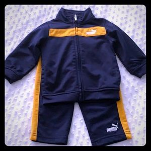 Puma Navy & mustard yellow outfit for baby boy